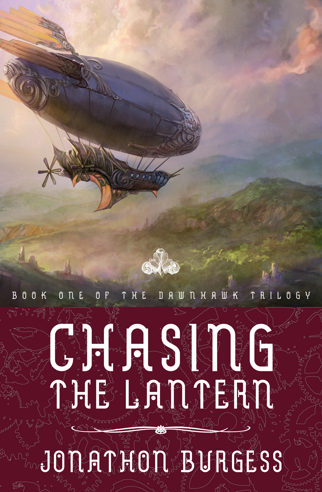 Jonathon Burgess is the author of Chasing the Lantern, a steampunk fantasy adventure. Inspired by modern bestsellers as well as classics by Gilbert & Sullivan, this first book in the Dawnhawk Trilogy contains mysterious jungles, inhuman monsters, and a pair of sky pirate captains who are bitter enemies...and also just happen to be married.